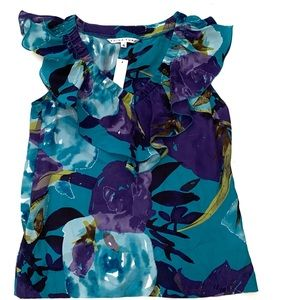 NWT Trina Turk 100% Silk Sleeveless Top S